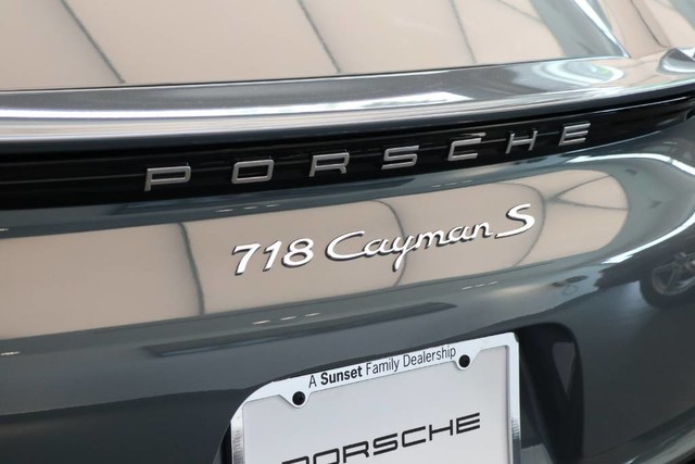 New 2018 Porsche 718 Cayman S