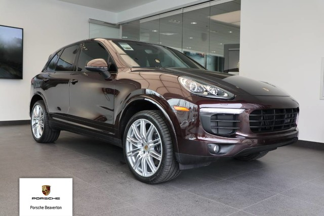 Certified Pre Owned 2017 Porsche Cayenne Platinum Edition